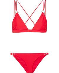 Dion Lee - Tri Lock Embellished Triangle Bikini - Lyst