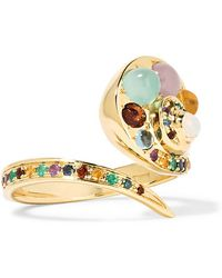 Venyx   Moonshell 18-karat Gold Multi-stone Ring   Lyst