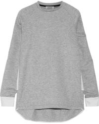 Tim Coppens - Satin-paneled Tencel-blend Sweatshirt - Lyst
