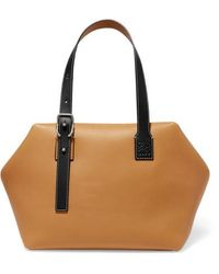 Loewe Cube Two-tone Leather Tote - Multicolour