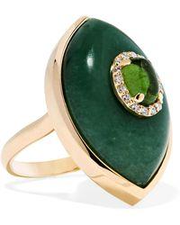 Marlo Laz - Iris 14-karat Gold Multi-stone Ring Gold 6 - Lyst