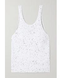 Tibi Wool-blend Tank - White