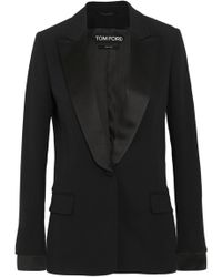 Tom Ford - Satin-trimmed Cady Tuxedo Jacket - Lyst