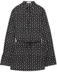 Equipment - Trista Printed Silk-crepe Mini Dress - Lyst