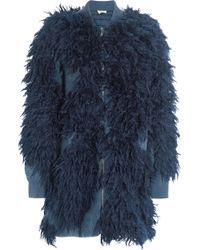 3.1 Phillip Lim - Faux Fur And Bouclé-knit Jacket - Lyst