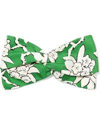 Valentino - Floral-print Silk-twill Headband - Lyst