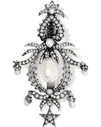 Alexander McQueen - Silver-plated, Swarovski Crystal And Pearl Hair Slide - Lyst