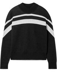 ATM - Striped Cotton-blend Jumper - Lyst