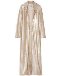 Rosie Assoulin - Sequined Silk-satin Coat - Lyst