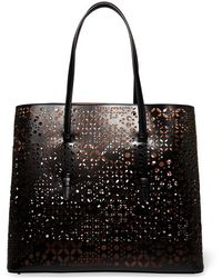 Alaïa - Laser-cut Leather Tote - Lyst