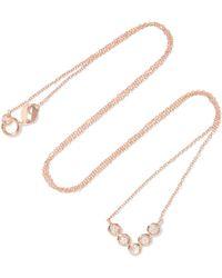Lito | Hive 18-karat Rose Gold Diamond Necklace | Lyst