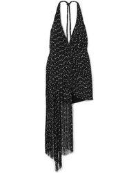 Jacquemus - Valoria Wrap-effect Fringed Bouclé Halterneck Mini Dress - Lyst