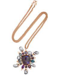 Daniela Villegas | Asteria 18-karat Rose Gold Multi-stone Necklace | Lyst