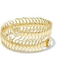 Daniela Villegas - Baby Centipede 18-karat Gold, Diamond And Sapphire Ring - Lyst