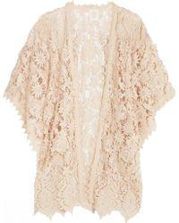 Anna Sui - Romantique Crocheted Lace Kimono - Lyst