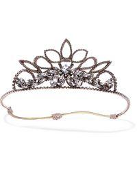 Erickson Beamon - Princess Rose Gold-plated Crystal Headband - Lyst