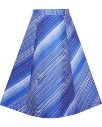 Vika Gazinskaya - Striped A-line Skirt - Lyst