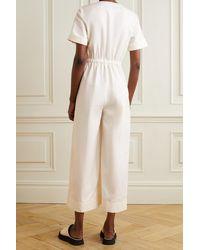 Apiece Apart Tambor Linen And Cotton-blend Twill Wrap Jumpsuit - Natural