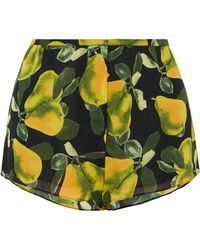 Marc Jacobs - Printed Crepe De Chine Shorts - Lyst
