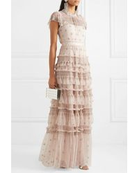 Needle & Thread Andromeda Embellished Tulle Gown - Multicolour