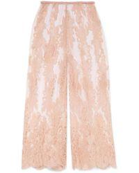 Rosamosario - La Bella Siciliana Embroidered Cotton-blend Lace Pants - Lyst