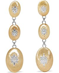 Buccellati - Macri 18-karat Yellow And White Gold Diamond Earrings - Lyst