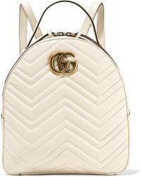 a576f451f53a Gucci Gg Marmont Quilted Leather Backpack in Natural - Lyst