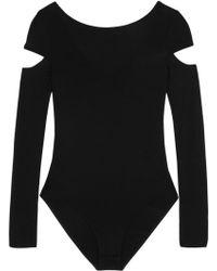 Maje - Cutout Stretch-jersey Bodysuit - Lyst