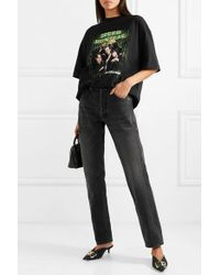 Balenciaga Speed Hunters Printed Cotton-jersey T-shirt - Black