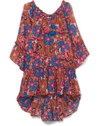 Anjuna - Floral-print Cotton-gauze Kaftan - Lyst