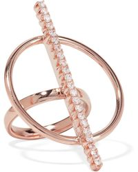 Ryan Storer - Rose Gold-plated Crystal Ring - Lyst