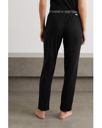 Calvin Klein Ck One Pyjama-hose Aus Baumwoll-jersey Mit Stretch-anteil - Schwarz