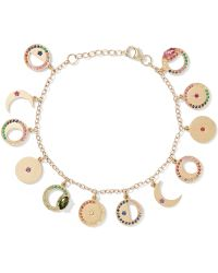 Andrea Fohrman - Phases Of The Moon 14-karat Gold Multi-stone Charm Bracelet - Lyst