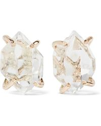 Melissa Joy Manning - 14-karat Gold Herkimer Diamond Earrings - Lyst