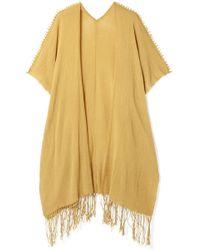 Caravana Holom Fringed Cotton-gauze Cape - Multicolor