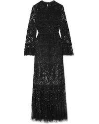 Needle & Thread - Robe Du Soir En Tulle À Sequins Snowdrop - Lyst
