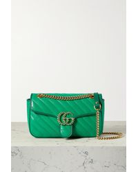 Gucci - Gg Marmont 2.0 Small Embellished Quilted Leather Shoulder Bag - Lyst