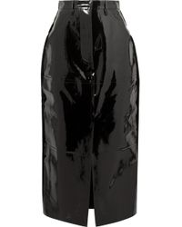 Solace London - Patent-leather Midi Skirt - Lyst
