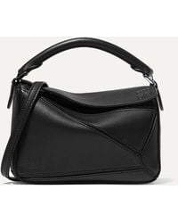 Loewe Puzzle Small Multi-function Leather Bag - Black