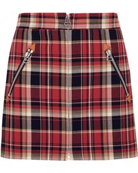 Rag & Bone - Leah Tartan Cotton Mini Skirt - Lyst