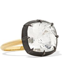 Fred Leighton - Collection 18-karat Gold, Sterling Silver And Topaz Ring - Lyst