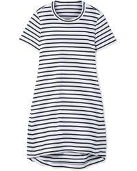 Sacai - Dixie Cutout Striped Cotton-jersey Mini Dress - Lyst