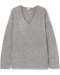 FRAME - Oversized Ribbed-knit Sweater - Lyst