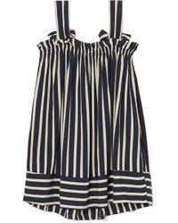 Faithfull The Brand - Ocean Dip Striped Crepe Mini Dress - Lyst