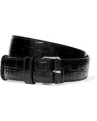 Altuzarra - Croc-effect Patent-leather Belt - Lyst