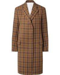 CALVIN KLEIN 205W39NYC - Oversized Checked Twill Coat - Lyst