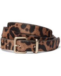 J.Crew | Leopard-print Calf Hair Belt | Lyst