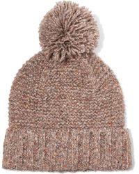 J.Crew | Jasper Pompom-embellished Chunky-knit Beanie | Lyst