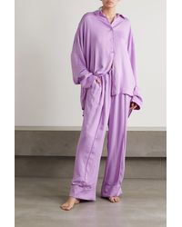 Sleeper Pyjama Aus Crêpe - Lila