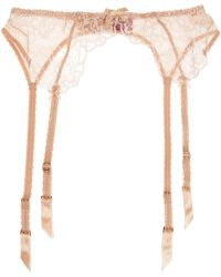 L'Agent by Agent Provocateur | Angelica Lace And Stretch-tulle Suspender Belt | Lyst